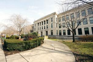 Schenley High School closed in 2008 due to concerns over asbestos.