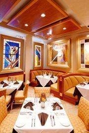 A look at the interior of the Eddie Merlot's restaurant in Louisville.