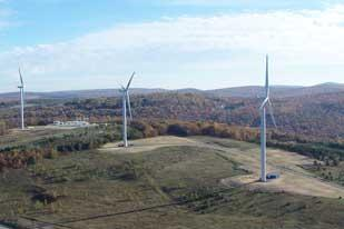 EverPower Wind Holdings Inc. operates this wind farm in Cambria County and hopes to install a bigger one in Somerset County.