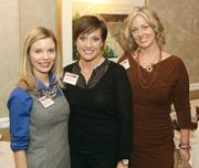 Liz Fetchin, left, Gina Costic and Colleen Chorney of Phipps Conservatory & Botanical Gardens Inc. attended the reception.
