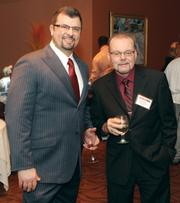 Robert Portogallo, left, of Safeguard with David Cegan of The Financial Search Group Ltd.