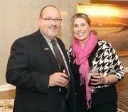 Dennis Gilfoyle of Junior Achievement of Western Pennsylvania with Brigette Butler of Level 3 Communications.