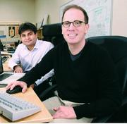 Abhishek Sharma, left, and Mark DeSantis co-founded Mobile-Fusion, which eventually morphed into their current company, kWantera.