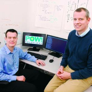 Timo Mechler, left, interim CEO of POW Solutions, has found support from Innovation Works and Tim Fogarty, its director of energy programs.