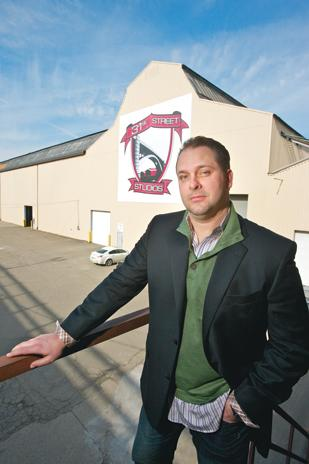Chris Breakwell stands outside his 31st Street Studios. Breakwell has added three new partners in the operation.