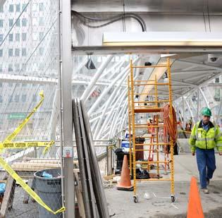 Work on the North Shore connector was nearing an end last week, as the light-rail service is expected to begin March 25.