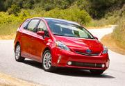 13. 2012 Toyota Prius VCity MPG: 44Highway MPG: 40Combined MPG: 42