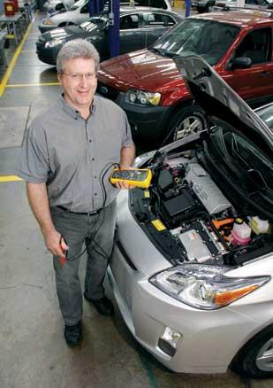 Bob Koch, an automotive instructor at CCAC's West Hills campus, said there's a need to train technicians now that hybrid cars are becoming more common.