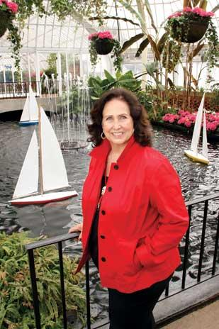 Yvonne Campos, CEO of Campos Inc., photographed in the Victoria Room at Phipps Conservatory and Botanical Gardens.