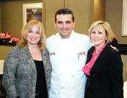 """Lisa Edmonds, left, and Jennifer Kehm flank Buddy Valastro of TLC's """"Cake Boss"""" at the """"Dream It ... Achieve It"""" fundraiser for the Young Women's Breast Cancer Awareness Foundation on April 17 at the Hyatt Regency Pittsburgh International Airport."""