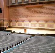 The auditorium is one of many spaces available for events at the Soldiers & Sailors Memorial Hall and Museum in Oakland.