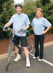 John Dzierski and Susan Sullivan are coordinators of The Tomayko Group's 12-week biking and walking programs.