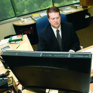 Jake Lenington came from Houston at the end of 2011 to run Sadler Law Firm's new office in Canonsburg.