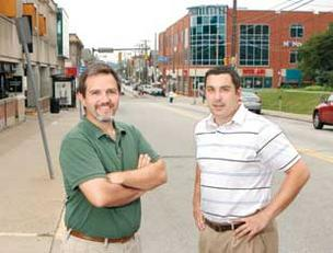 Mike Capsambelis, left, and Matt Gaston are cofounders of the Pittsburgh chapter of the Awesome Foundation, which hopes to begin finding projects to fund in the fall.