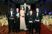 Chuck Sanders, left, Michael Robb, Rochelle Stachel, Dennis Oates, Dr. Frank Alderman, Xuecang Geng and Rich Lunak are the 2012 Western Pennsylvania and West Virginia Entrepreneur of the Year Awards winners. Bill Lambert, another winner, is not pictured.