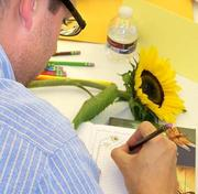 Educational nonprofit ASSET is piloting STEAM programs for art and science teachers, including one where both record sunflower observations and share what they saw.