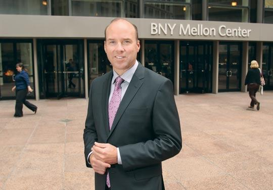 Jones Lang LaSalle's Jason Stewart is marketing BNY Mellon Center for more than $30 per square foot. A scarcity of vacancies is increasing rents in downtown Pittsburgh.
