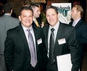 Frank Leonello, left, and Dave McMullen of Franjo Construction Corp. attended the Pittsburgh 100 event.