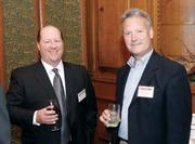 Chris Simchick of SDLC Partners LP, left, with Bob Markley of Regulatory and Quality Solutions LLC at the Pittsburgh 100 event.