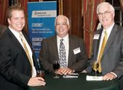 Andrew Rihn, left, Robert Necciai, center, and Steve Dake, all from CSD Engineers, attended the Pittsburgh 100 event.
