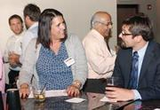 First Commonwealth Bank's Dawn Granata and Nathan Culp attended the August BizMix event.