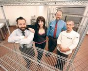 Waffles INCaffeinated co-owners Josh and Cassandra Cuddy, Gordon Sheffer and executive chef Tahj Merriman. They have signed a lease to open a new location in the SouthSide Works.