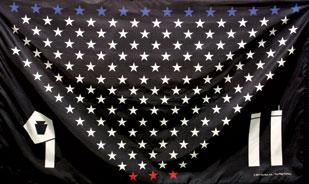 This is the second of two Sept. 11 tribute flags designed and sold by the Flag Factory in Castle Shannon. About 25 percent of sales will go to the Flight 93 Memorial fund.