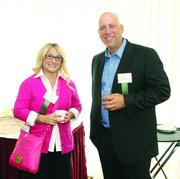 Jennifer Joyce of Comcast Business, left, and Jack Irwin of Comcast Business Services.