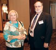 Michele Atkins and William O'Connor of Heritage Community Initiatives were among 129 attendees at the HR Leadership Awards event.