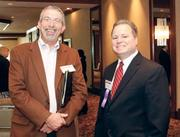 Jeff Dressler, Coleman Search Consulting, left, and David Mollish, GAI Consultants Inc., attended the Pittsburgh Business times event.
