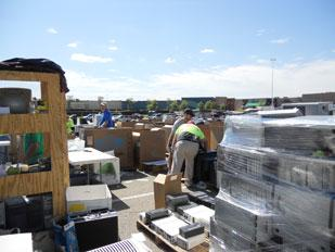ELoop LLC recycled 62,000 pounds of electronic waste at a recent recycling event at the Pittsburgh Mills Mall.