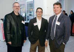 Michael Cherock, left, and Jimmy DeCecco, both with AE Works, and Marc Mondor of evolve LLC attended the Corridors of Opportunity event.