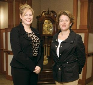 Deborah Winn-Horvitz, left, is president and CEO of the Jewish Association on Aging. Nadine Kruman is the care navigator for the Charles M. Morris Nursing and Rehabilitation Center at the Harry and Jeannette Weinberg Village in Squirrel Hill.