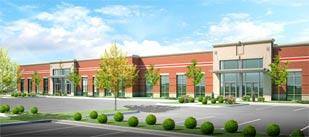 This rendering by WTW Architects shows a completed building in the new Pittsburgh International Business Park.