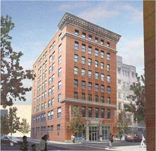 This rendering shows Burns & Scalo Real Estate Services Inc.'s vision for an eight-story building on First Avenue, downtown.