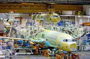An Airbus A320 is built in May on an assembly line in Toulouse, France. Alcoa is hoping it can get Airbus to use its lithium alloy in the production of future generations of the A320.