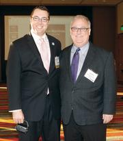 Ethan Nicholas, Pittsburgh Social Exchange, left, and Andy Birol, Birol Growth Consulting, at the event.