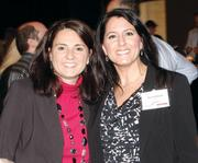 Nicole Hait, left, and Gia DelliGatti of INPEX attended the Oktoberfest-themed event.