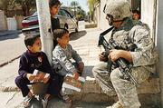 SFC Joshua Cuddy is shown on patrol in 2007 during the surge in Sadr City, Iraq. Cuddy says his military experience was a major contribution to running both of his businesses.