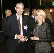 Craig Creaturo of II-VI Incorporated chats with Candice Mill of AON Risk Solutions at the event.
