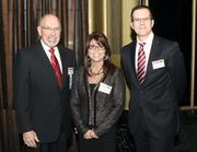Lanxess Corp.'s Ray Newhouse, left, Beth Holdrieth and Andreas Schroeder at the event.