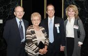 Glenn Graner, K&L Gates LLP, second from right, was joined by his wife, Linda, right, and his parents, John and Joan, at the event.