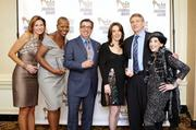 Robyn Bracco, left, Demetria Boccella, Norman Childs, Dolores Warwick, John Waldman and Violet Caridi Gallo at the Third Annual Pittsburgh Fashion Week Hall of Fame Luncheon.