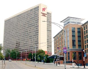 Washington Plaza is located along Centre Avenue near Consol Energy Center and the Hill District.