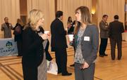 UPMC Health Plan's Tricia Fisher, left, and Sharon Dottle attended the event.