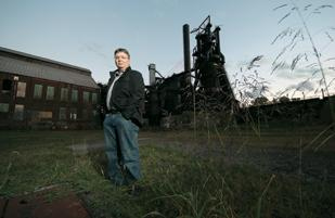 """Scott Lockhart was an extra in the film currently titled """"Out of the Furnace."""" Lockhart played a steelworker in the movie, which was mostly shot in Braddock, including at the Carrie Furnace site."""