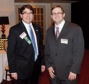 Jeff Lammert, Catalyst Connection, left, and Brian Meier, Richardson Cooling Packages, at the event.