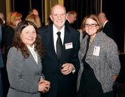 Dot and Gus Blume, Blume's Solid Surface Products, and their daughter Michelle Goetzinger, right, at the MOY awards.