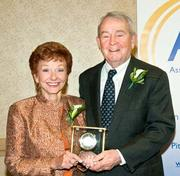 Robert and Irene Bozzone received a Special Lifetime Achievement award from the AFP. Robert is a retired CEO, president and chairman of Allegheny Technologies.