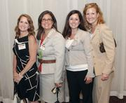 Fast Tracker Lori Lecker of Alcoa, second from left, with Buchanan Ingersoll & Rooney PC's Tracie Gliozzi, far left, Katie Kozora, third from left, and Kerstin Schuler.
